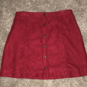 Red Suede Hollister Skirt